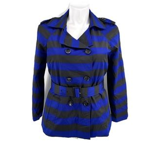 CYNTHIA ROWLEY Striped Long Sleeve Jacket